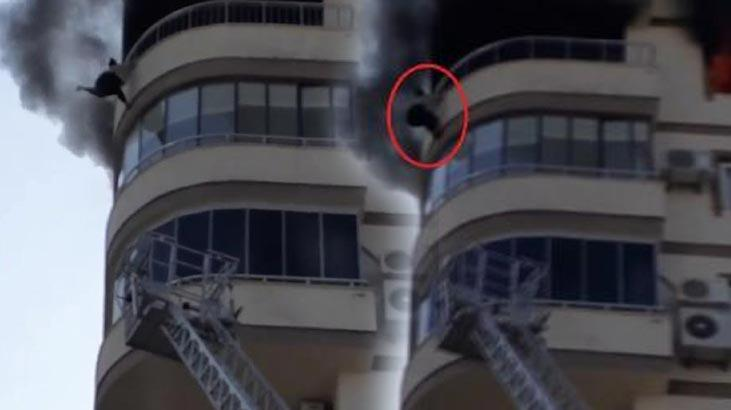 Yangına tanık olan görgü tanığı! Merdiven kısa kaldı