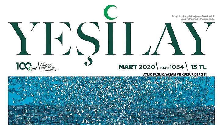 Yeşilay dergisinin kapağı Erbil'den