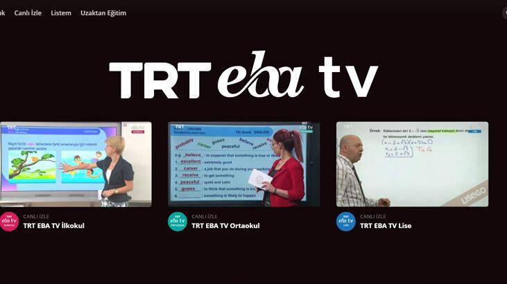 EBA TV canlı izleme linkleri! EBA TV İlköğretim, Ortaokul, Lise uzaktan eğitim dersleri canlı nasıl izlenir?
