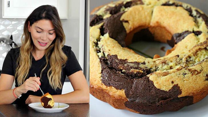 Mermer kek nasıl yapılır? Portakallı mermer kek tarifi