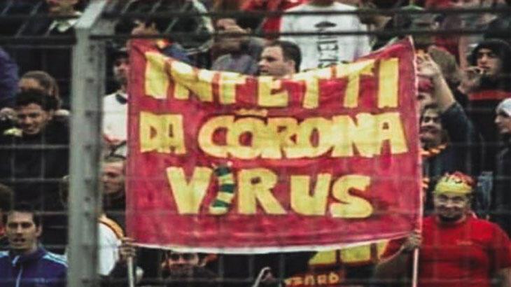 Corona'nın statlarda ilk görünüşü! 16 yıl önce o pankart...