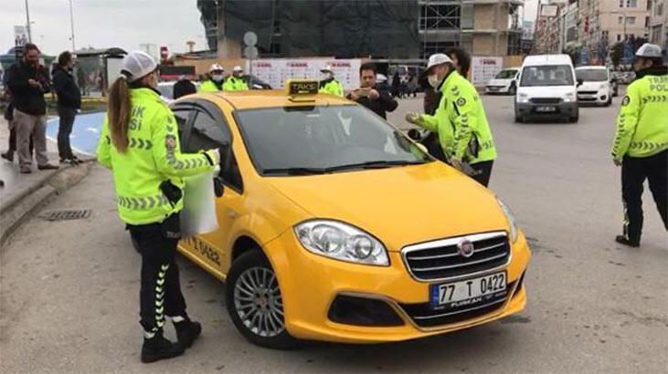 Yalova'da trafik ekiplerinden corona virüs tedbirleri