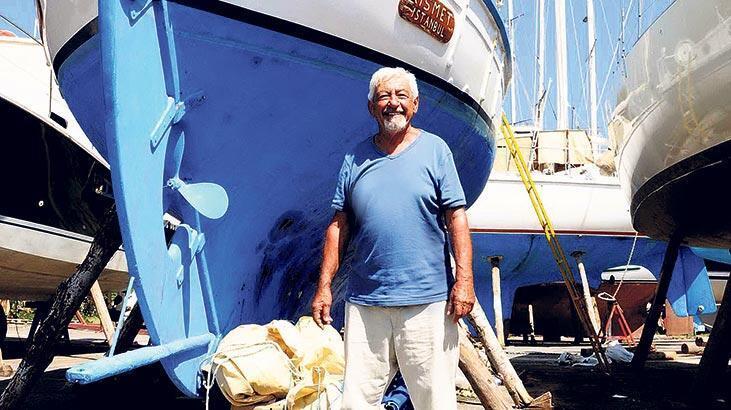 Efsane yelkenli  ve teknede temizlik