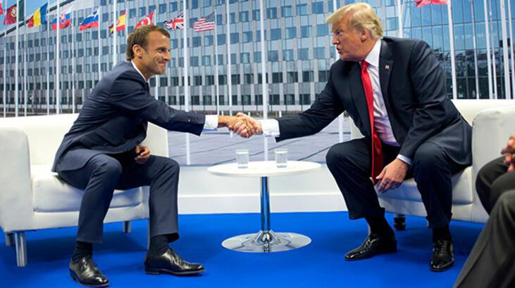 Trump ve Macron telefonda Kovid-19'u görüştü