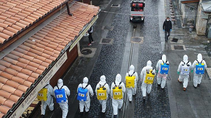 Konya'da dezenfeksiyon seferberliği! 50 ekip 110 personel