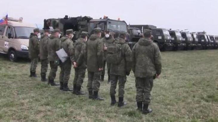Rusya ordusu İtalya'da! Bergamo'da kurulmaya başlandı