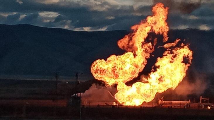 Ağrı- Gürbulak Sınır Kapısı'nda doğal gaz boru hattında patlama!