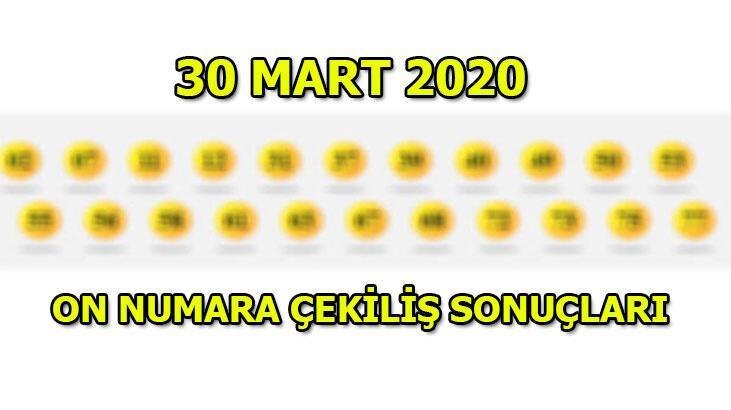 On Numara çekiliş sonuçları! 30 Mart 2020 Pazartesi...
