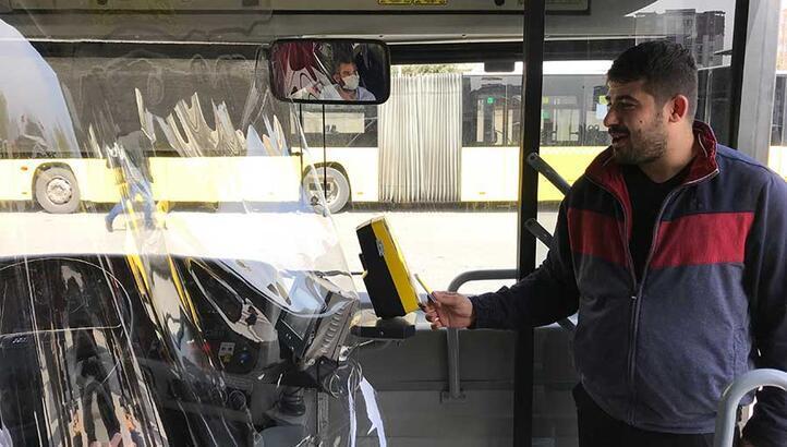 İstanbul'da Özel Halk Otobüslerinde corona virüs önlemi