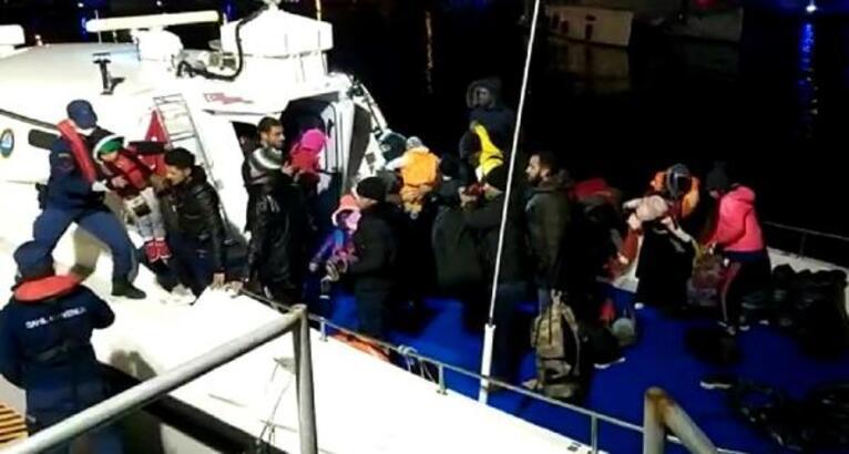 İzmir'de Yunan adalarına geçmeye çalışan 50 göçmen yakalandı