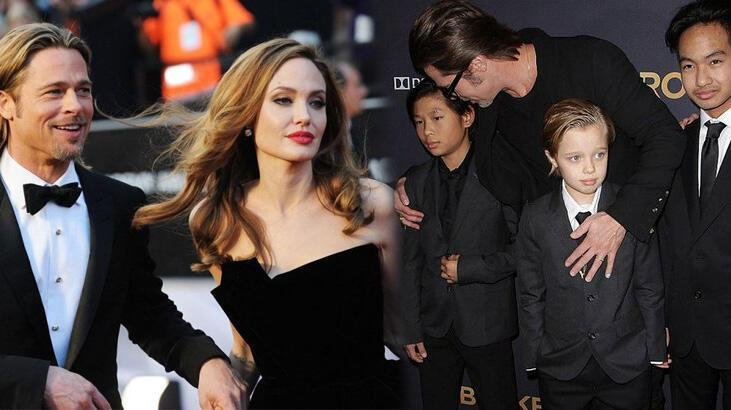 Angelina Jolie, Brad Pitt'e çocuklarını göstermiyor mu?