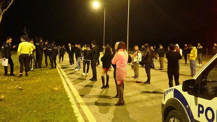 Antalya'da şok görüntüler! Dansözlü drift partisine polis baskını