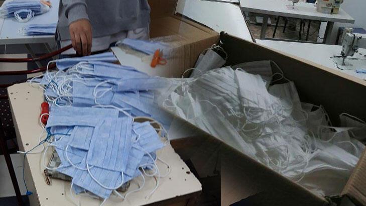 Kocaeli'de kaçak imalathanelerde baskın! 2 bin maske ele geçirildi