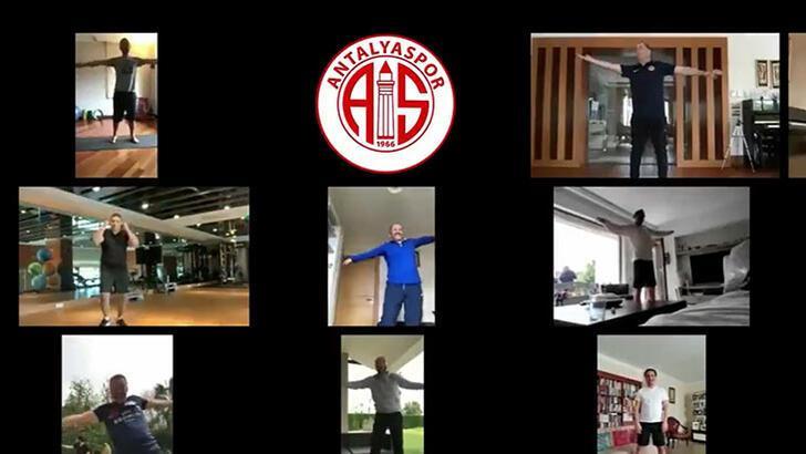 Antalyaspor'da antrenmanı bu kez yöneticiler yaptı