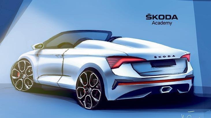 Skoda öğrencileri ödev için 'üstsüz araç' tasarlıyor...