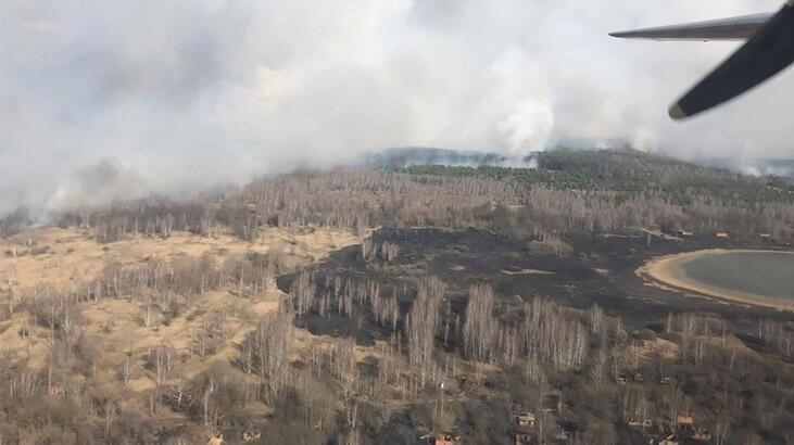 Çernobil'de orman yangını radyasyon seviyesini 16 kat artırdı