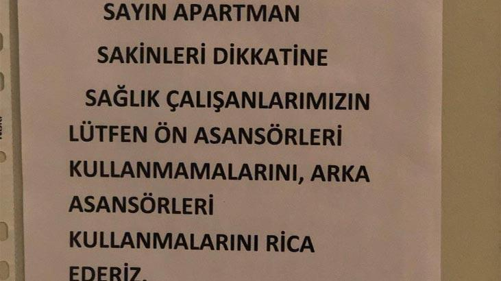 Sinop'ta sağlık çalışanlarına tepki çeken yazı! 'Ayrımcı tavrınız...'
