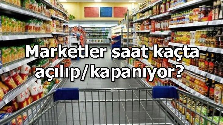 Marketler sabah saat kaçta açılıyor, akşam saat kaçta kapanıyor? BİM, A101, ŞOK, Carrefour, Migros çalışma saatleri