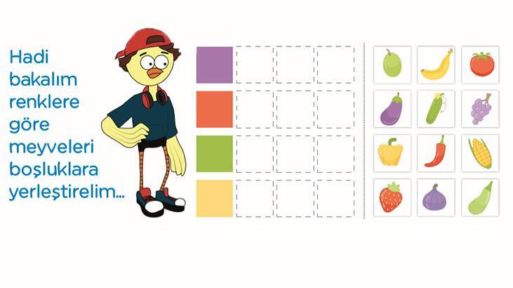 Yetenek testi: Meyve yerleştirme oyunu ile doğru yerleri bul
