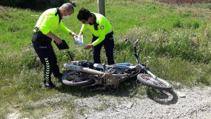 Polisten kaçtıkları motosikleti terk ettiler ama cezadan kurtulamadılar!