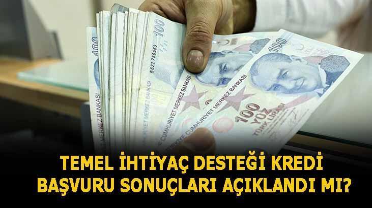 Temel ihtiyaç desteği kredisi başvuru sonuçları ne zaman açıklanacak? Vakıfbank,Ziraat Bankası ve Halkbank 10 bin TL 36 ay vadeli kredi sorgulama ekranı
