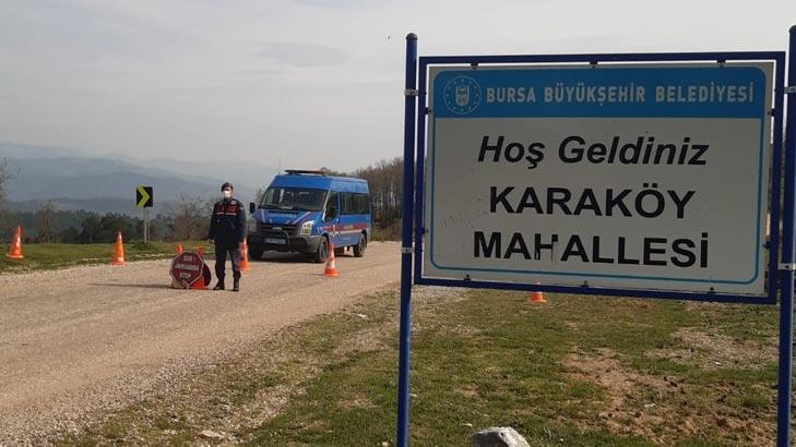Bursa'da Karaköy Mahallesi karantinaya alındı!