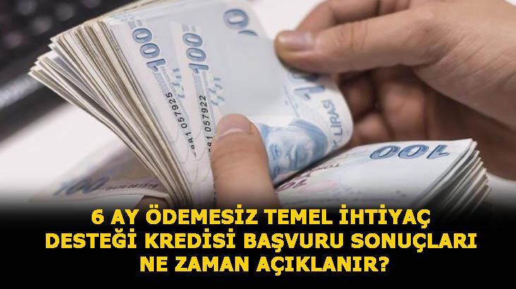 Temel ihtiyaç desteği kredisi başvurusu nasıl yapılır, sonuçlar ne zaman açıklanır? 10 bin TL Halkbank, Vakıfbank ve Ziraat Bankası 6 ay ödemesiz kredi sorgulama ekranı...