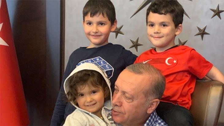 İbrahim Kalın paylaştı! Cumhurbaşkanı Erdoğan, torunlarıyla bir araya geldi