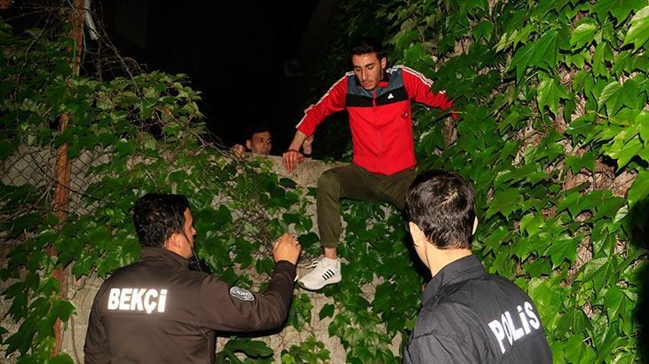 Polislerden böyle kaçtı! Kıskıvrak yakalandı...