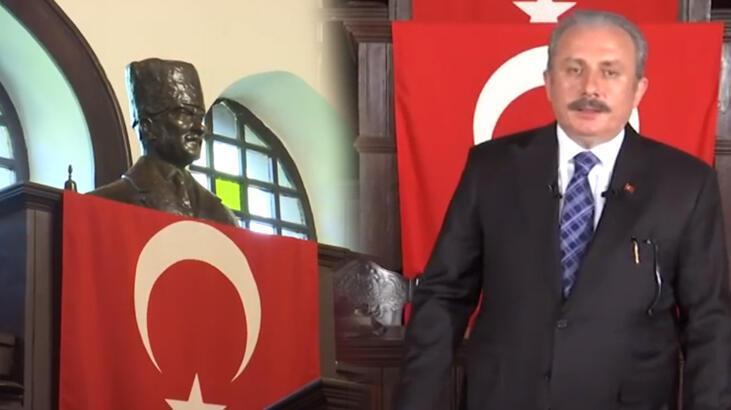 TBMM Başkanı Şentop'tan TRT EBA TV'de 100. yıl dersi