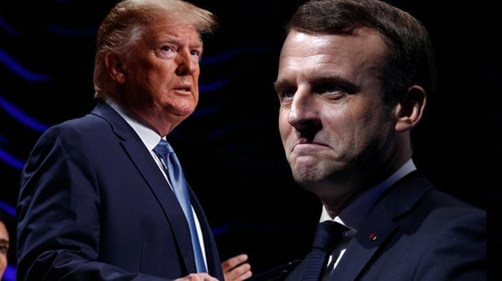 Trump'tan Macron'a kritik corona virüs telefonu