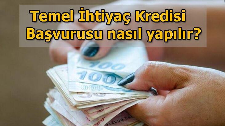 Temel İhtiyaç Kredisi başvuru sonucu sorgulama ekranı! Ziraat Bankası, Halkbank, Vakıfbank bireysel temel ihtiyaç kredisi geri ödeme tablosu