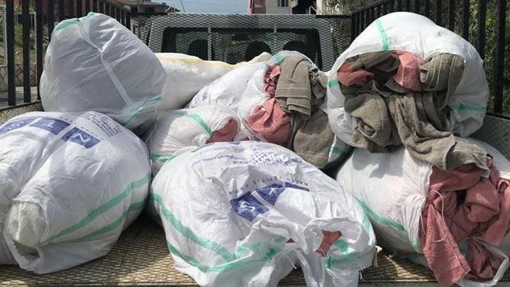 14 bin TL'lik havlu hırsızları tutuklandı!