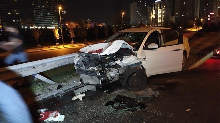İstanbul'da gece yarısı feci kaza! 2'si ağır 5 yaralı