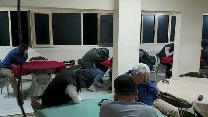 Yaşa dışı bahis baskını!  17 kişiye 766 bin lira ceza kesildi