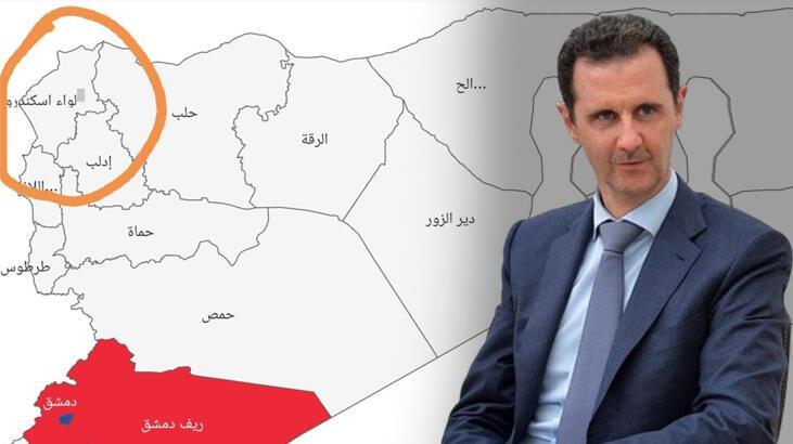 Son dakika I Esad'ın tepki çeken corona virüs haritası
