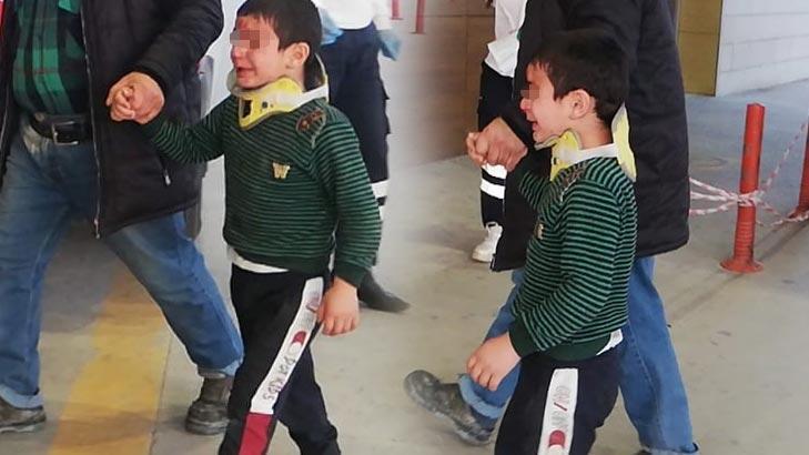 5 yaşındaki çocuk duvardan düşüp yaralandı!