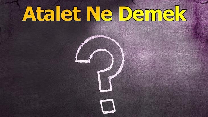 Atalet Ne Demek? (Tdk) Ataletsizlik Ve Ataletli Kelimesinin Anlamı Nedir?