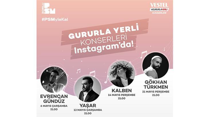 Vestel Gururla Yerli' Konserleri online devam ediyor