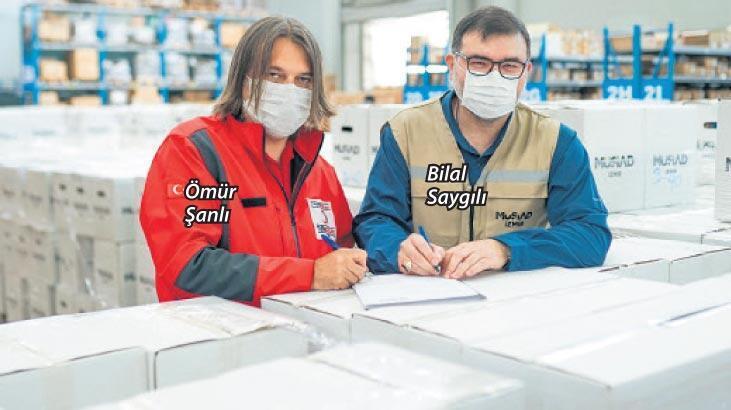 MÜSİAD İzmir'in gıda kolileri teslim edildi