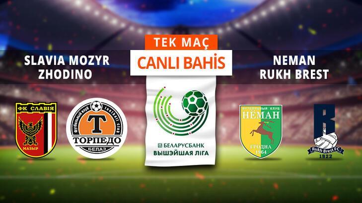 Belarus Ligi'nde 8. hafta Canlı Bahis ve Tek Maç seçenekleriyle Misli.com'da