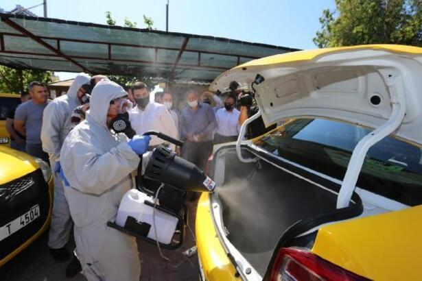 Taksici esnafına koronavirüs desteği