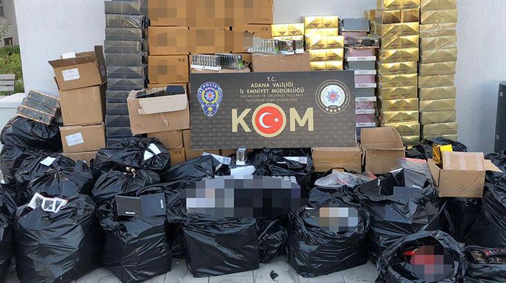 Adana'da 1 milyon 250 bin liralık kaçak cinsel içerikli ürün ele geçirildi