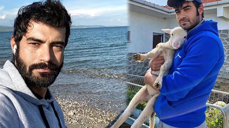 Murat Ünalmış kuzuyla poz verdi
