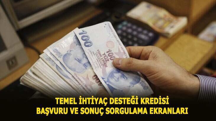 Temel ihtiyaç desteği kredisi başvuru sorgulama ve 10 bin TL kredi başvuru ekranı! Vakıfbank, Halkbank, Ziraat Bankası 6 ay ödemesiz destek kredisi başvurusu...