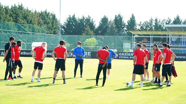 Gaziantep FK'dan corona sonrası ilk antrenman...