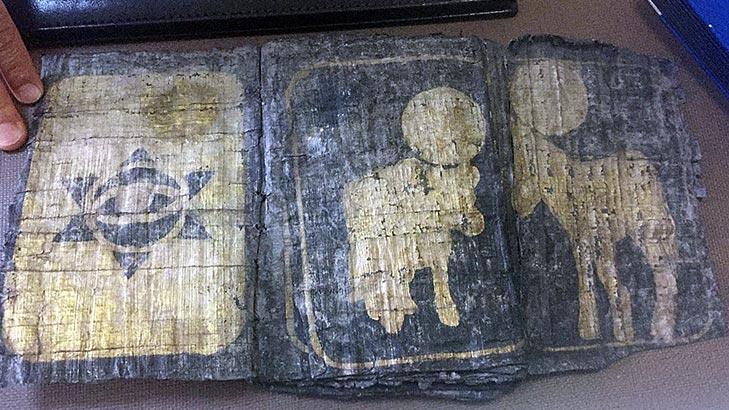 Düzce'de Davut Yıldızı olan kitap ele geçirildi!