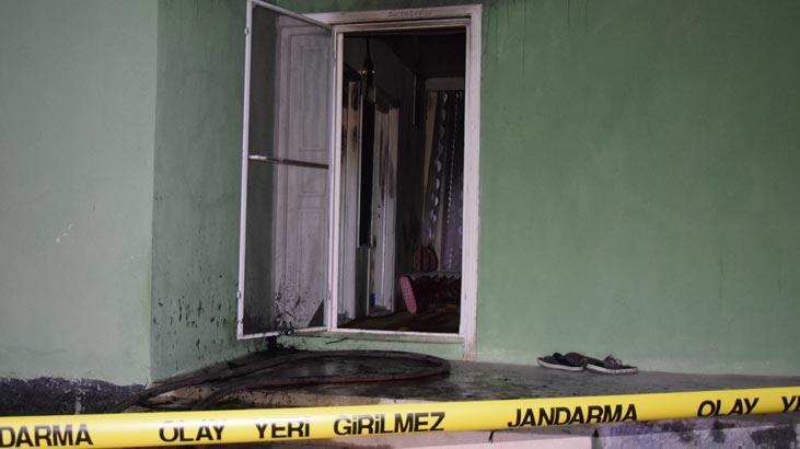 Konya'da evde çıkan yangında bir kişi yaralandı