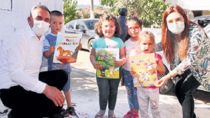 Beydağ'da çocuklara maske ve hikâye kitabı