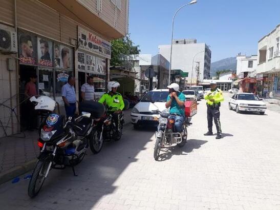 Düziçi'nde motosiklet sürücülerine 257 bin 939 lira ceza